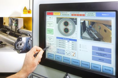 Individually designed user interface for camera-supported positioning of weld seams