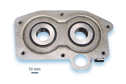 Laser welded bearing seat